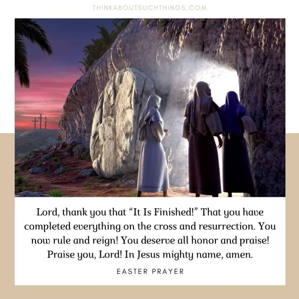 Short easter prayer