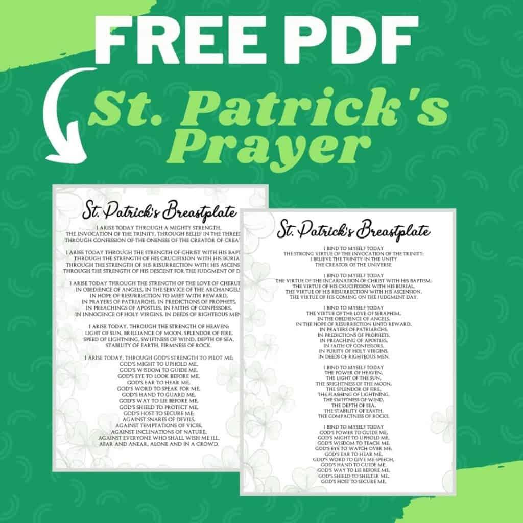 St Patrick's Breastplate prayer PDF printable