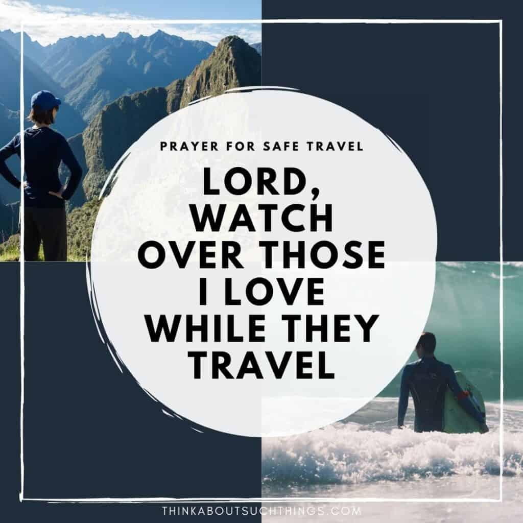 traveling mercies prayer