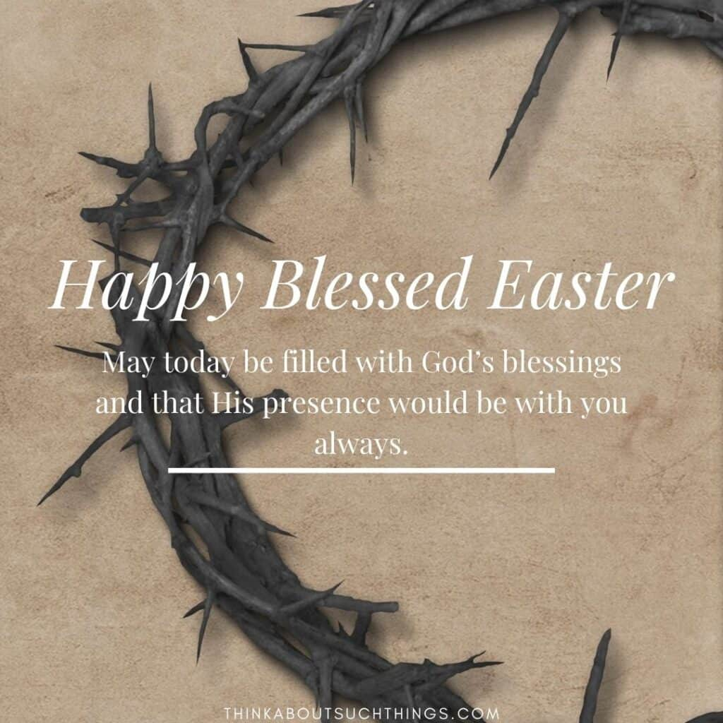 religious Easter messages and greetings about blessing