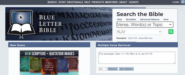 Online Bible Tools Blue Letter Bible