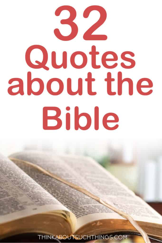 quotes about the Bible