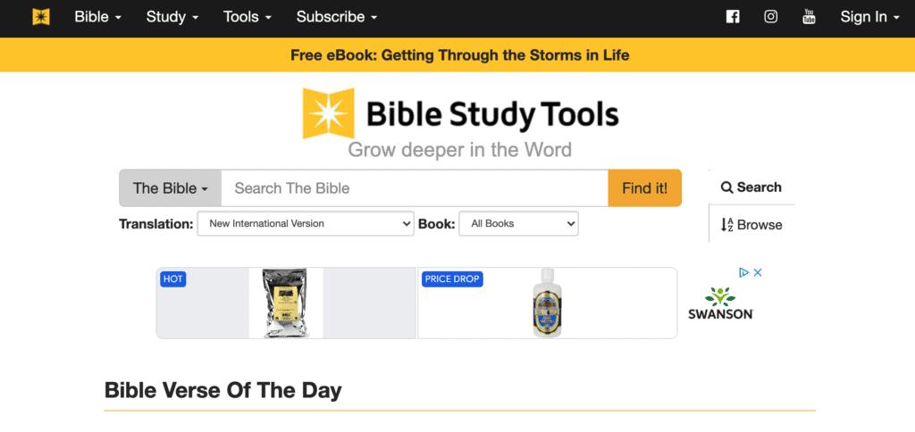 Bible Study Tools website