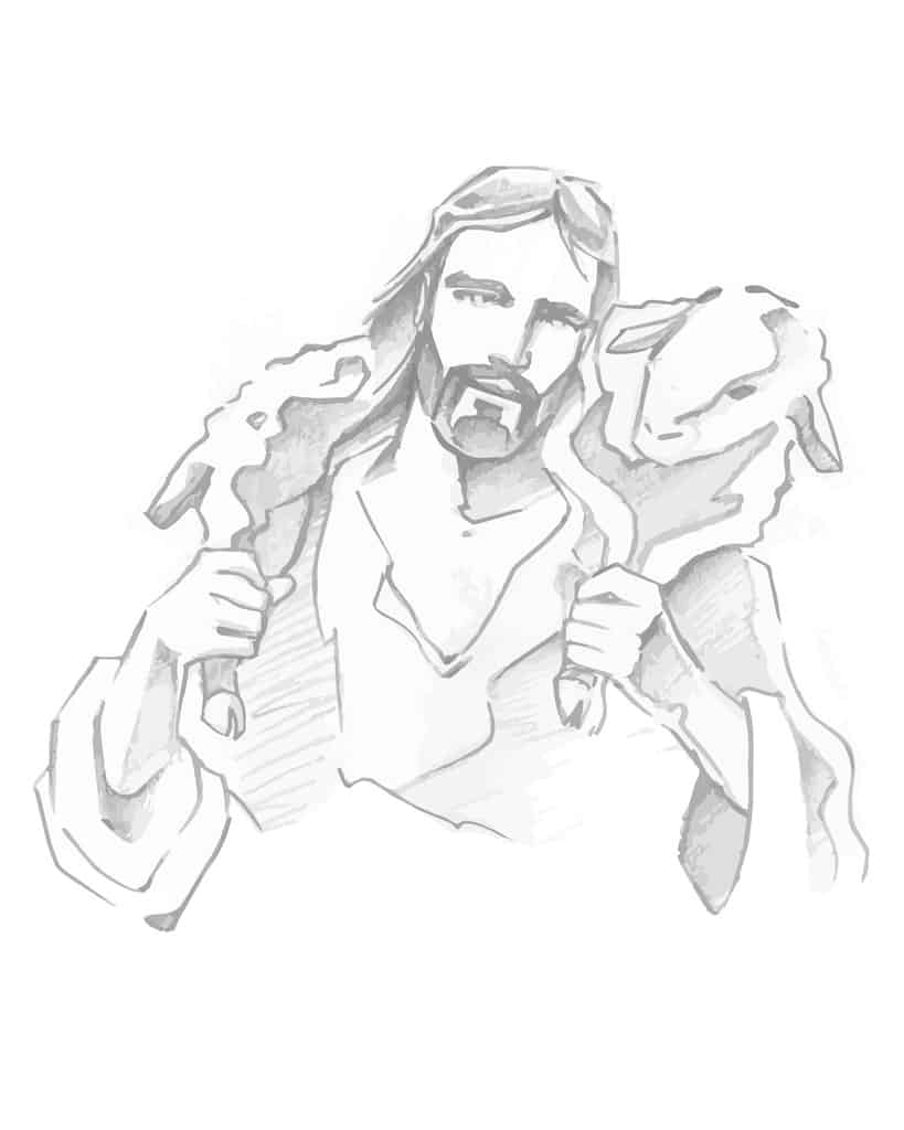 Jesus as a pastor or shepherd - one of the offices of the fivefold ministry