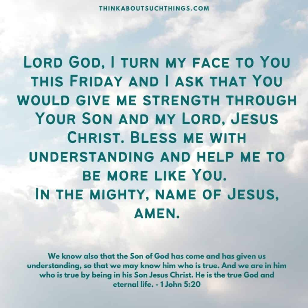 prayers for Friday
