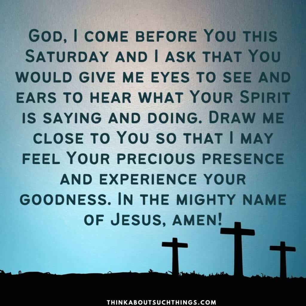 Saturday prayers