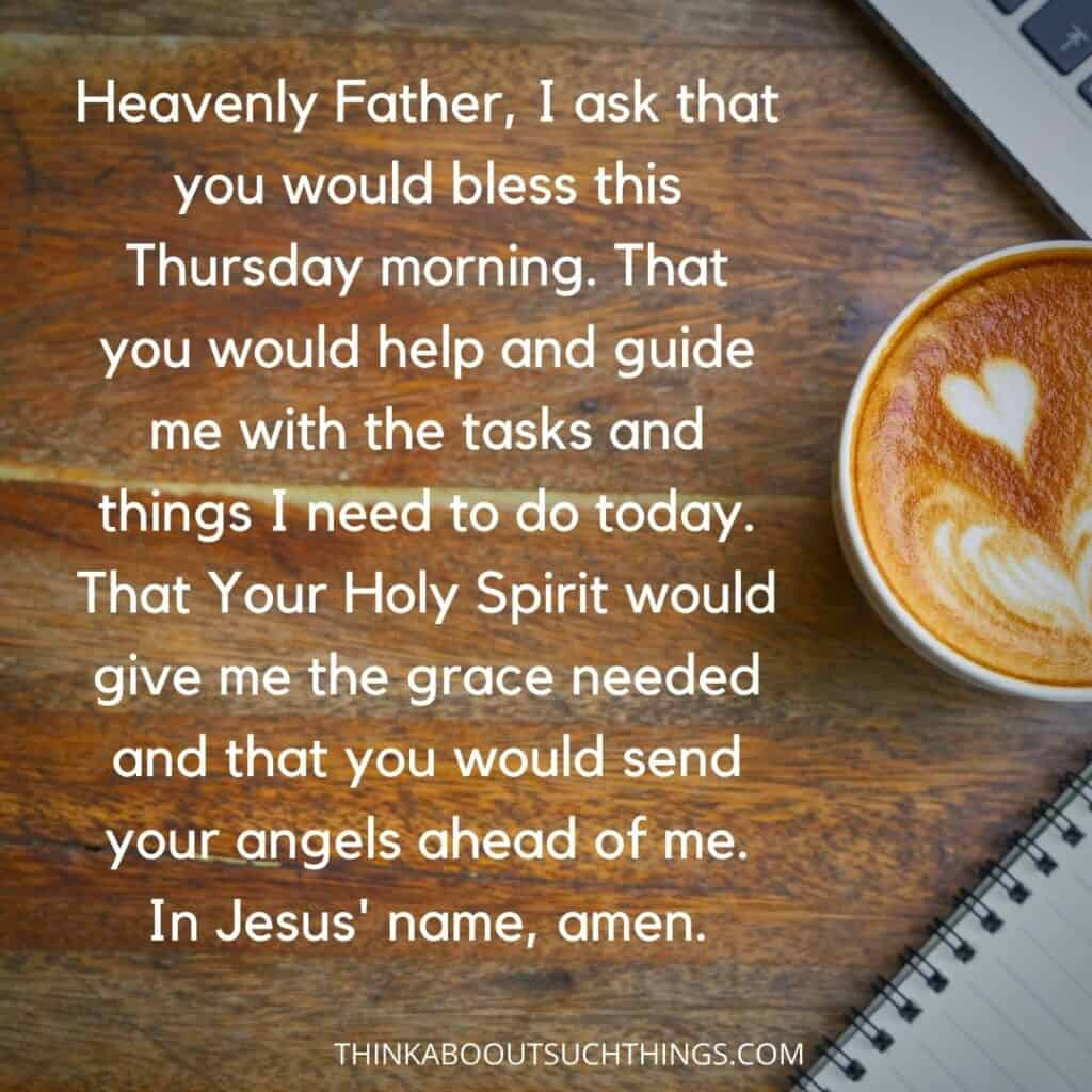 Thursday morning prayer