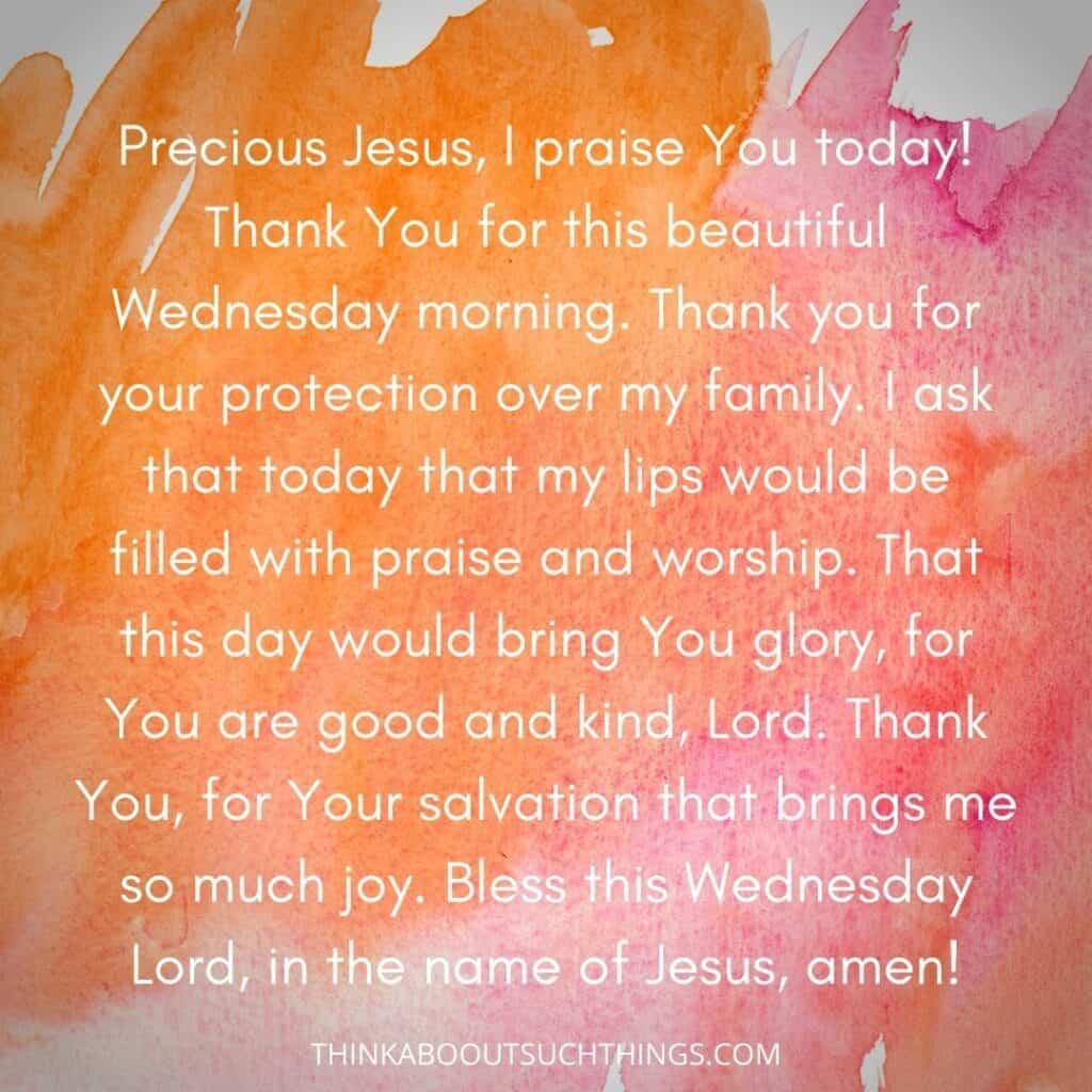 Wednesday morning prayer