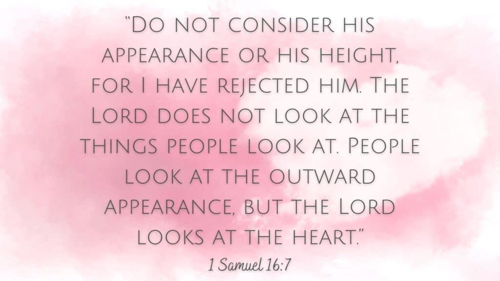 1 Samuel 16:7 images