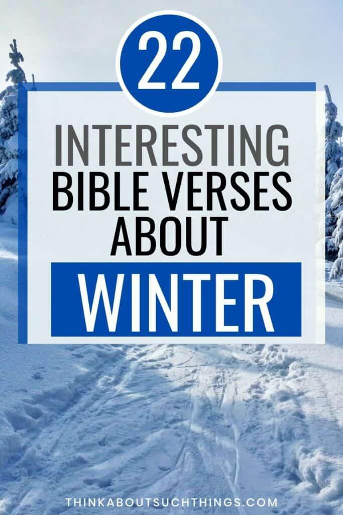 winter bible verses