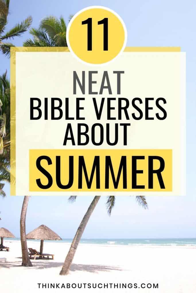 summer bible verses