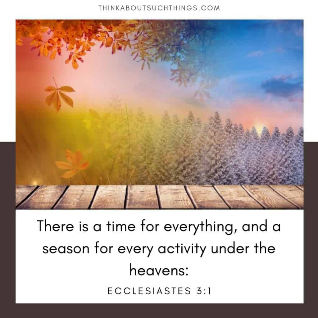For everything there is a season bible verse