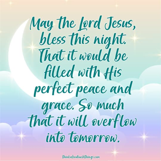 Good night blessings prayers images