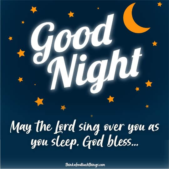 Good night blessings quotes and image