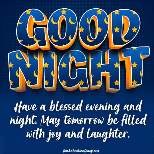 Good night christian quotes