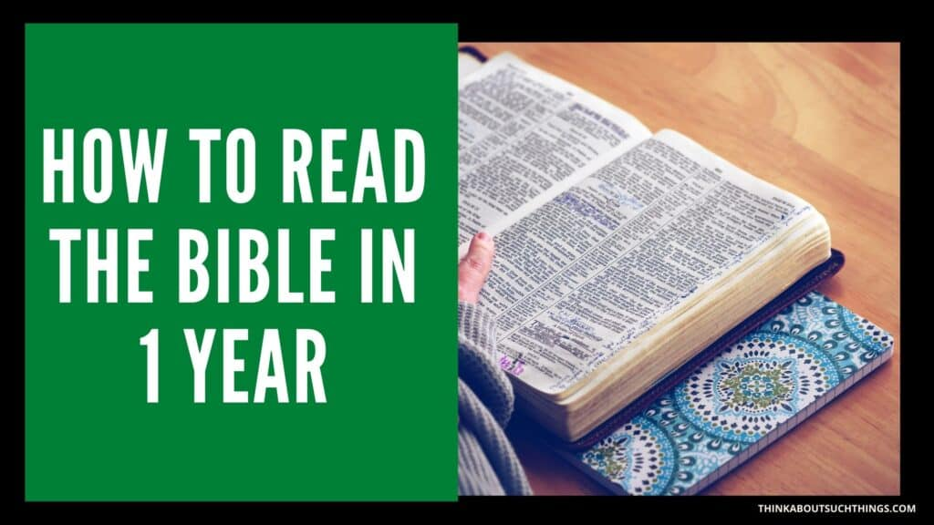 How to Read the Bible in 1 Year