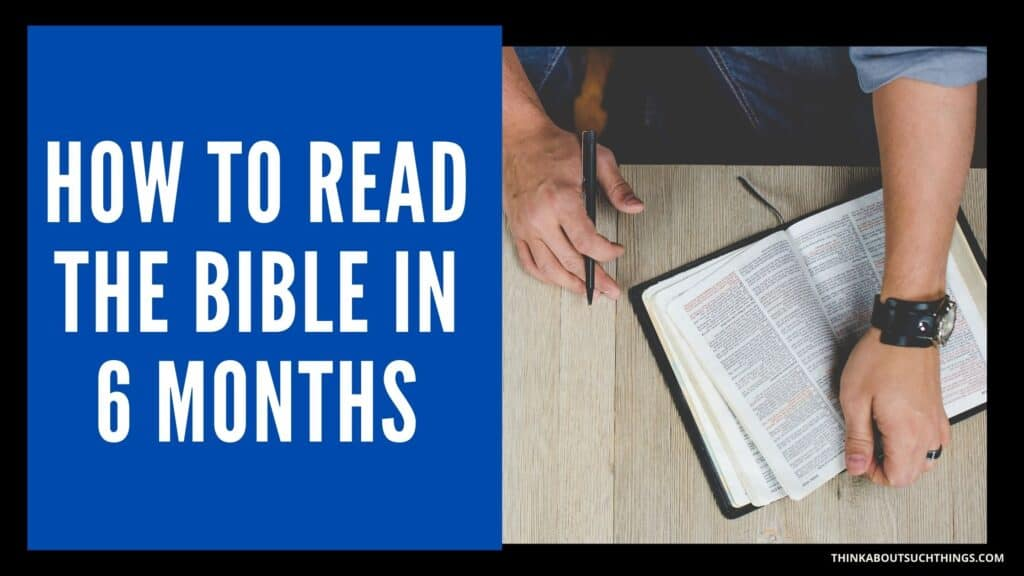 Read the Bible in 6 months