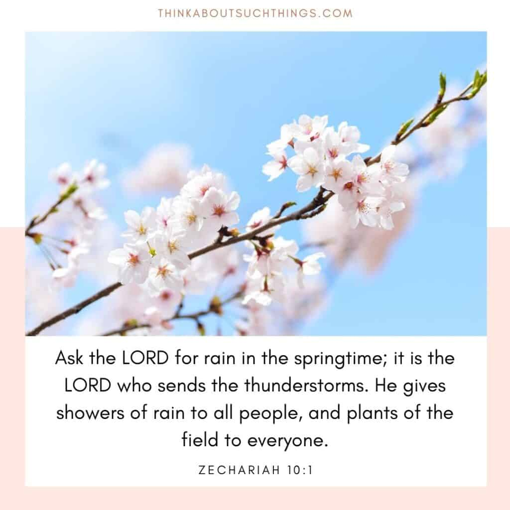 Scripture about spring