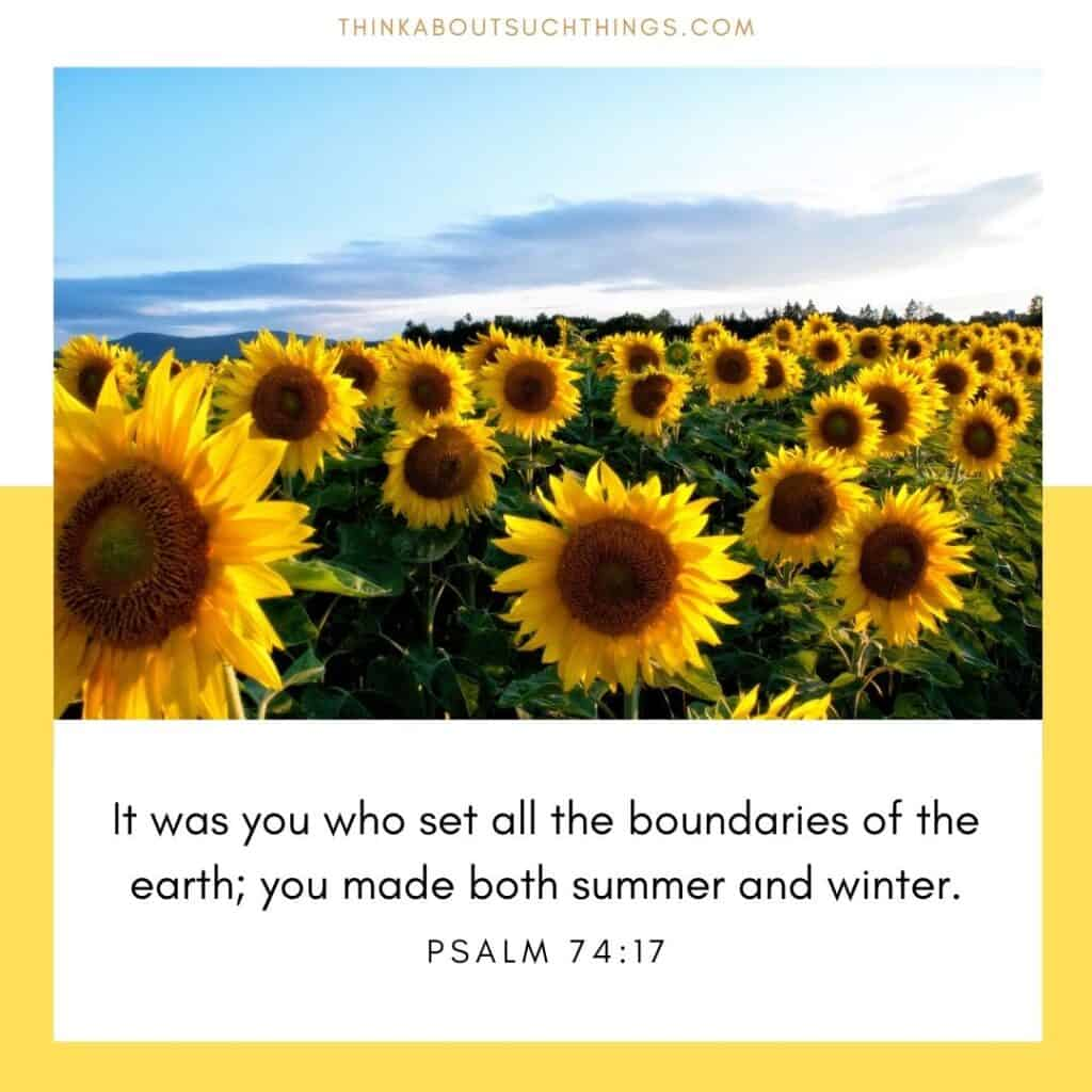bible verses about summer psalm 74:17