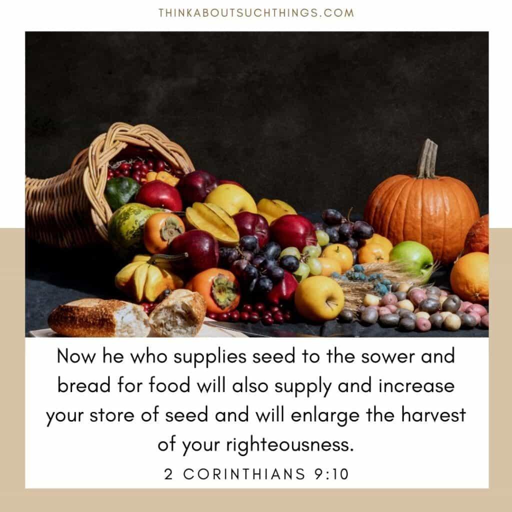Bible verses about fall 2 corinthians 9:10