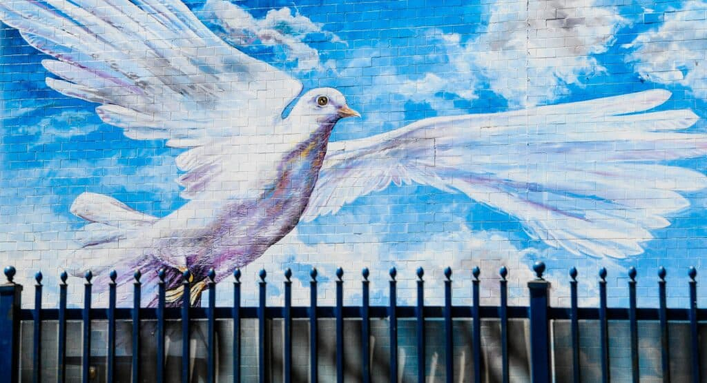 Things about the Holy Spirit (dove painting)