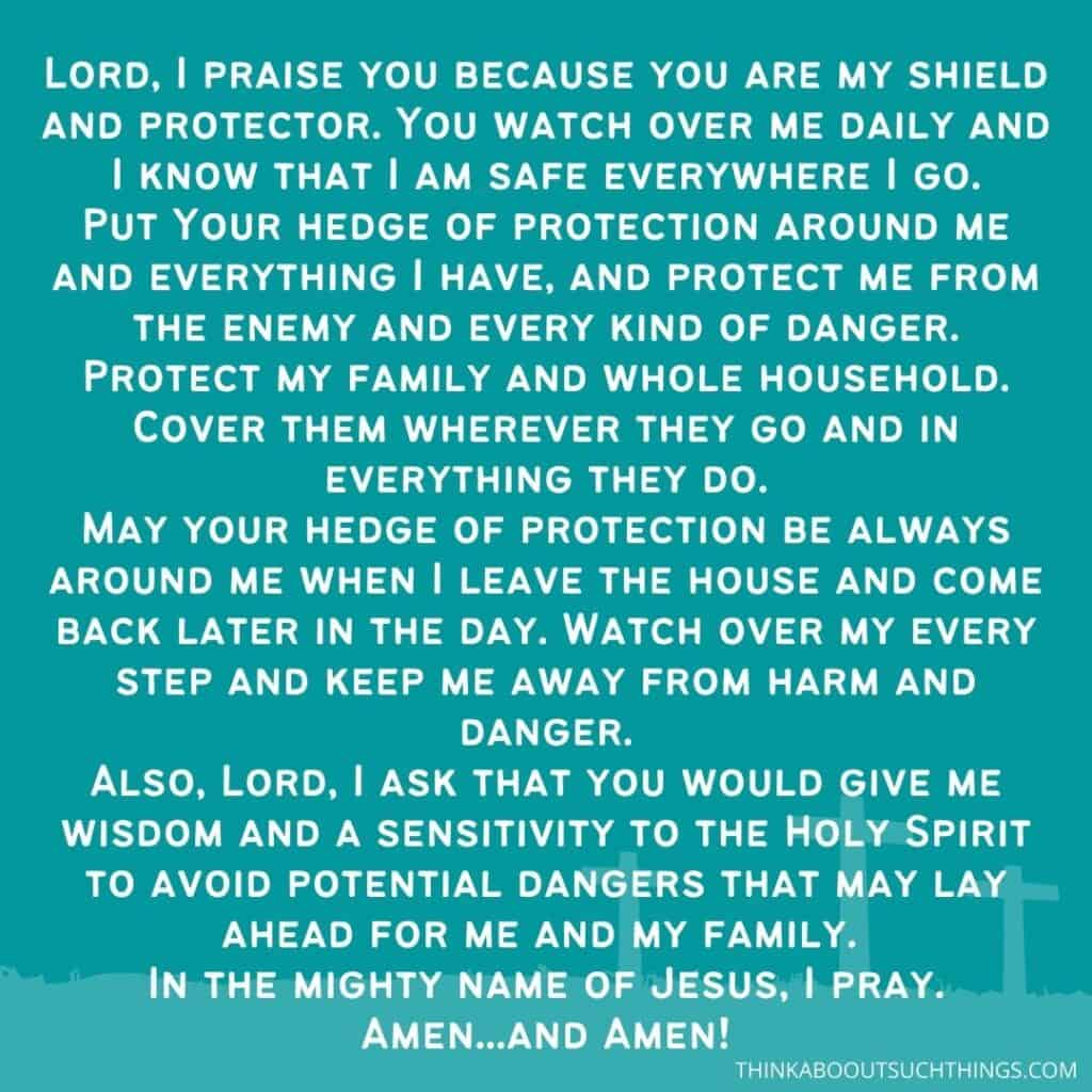Hedge of Protection Prayer