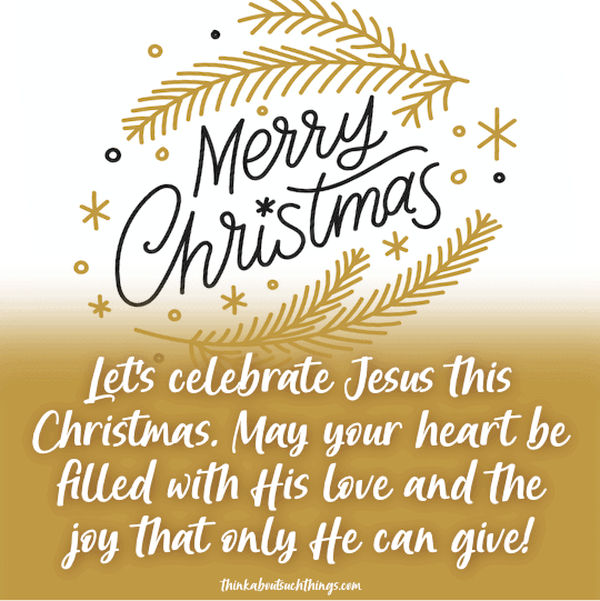 Merry christmas blessings