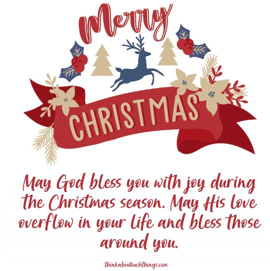 Short christmas blessings