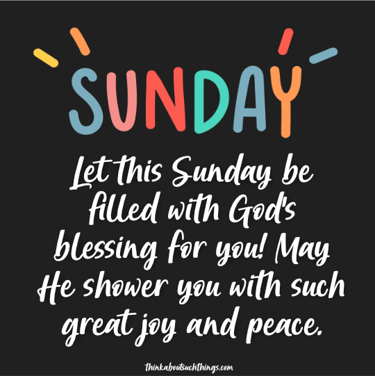 blessing sunday images